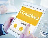 Digital Online Creative Development Innovation Office Working Concept