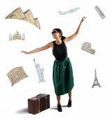 Dreamy elegant tourist