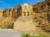 stock photo of rayon  - Diri Baba Mausoleum in Maraza city of Gobustan Rayon Azerbaijan