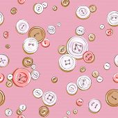 hand drawn colorful buttons seasmless pattern