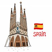 La Sagrada Familia Vector illustration