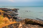 View Of The Sea Horizon And The Rocky Shore