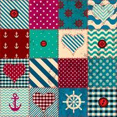 Patchwork in nautical style