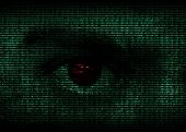 Eye in binary code