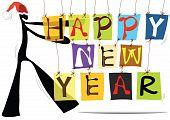 shadow man happy new year