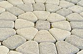 pic of paving stone  - Stone pavement in perspective - JPG