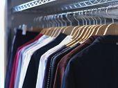 Hangers in Wardrobe