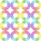 Seamless Pattern Made Of Rainbow Spectrum Circles.