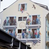 Wall painting in Chamonix, French Alps