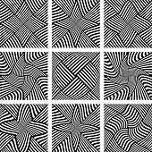 Abstract patterns set. Design elements. Vector art.