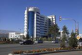Ashgabat, Turkmenistan - October 23, 2014. The New Medical Center In Ashgabat.