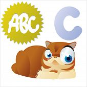 vector isolated animal abc: C is for Cat