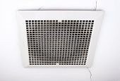 pic of ventilator  - Dirty ventilation fan on the ceiling of conference room - JPG