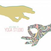 picture of mudra  - Logo for yoga studio - JPG