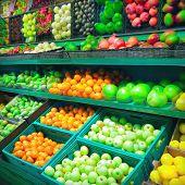 foto of supermarket  - Interior of supermarket - JPG