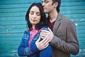 foto of amor  - Amorous young couple in casualwear - JPG