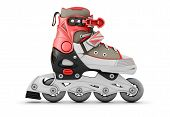 picture of inline skating  - 3d Roller skate side view isolated on white background - JPG
