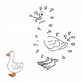picture of mother goose  - Game for children - JPG