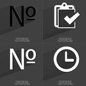 picture of tasks  - Numero sign Task completed icon Clock - JPG