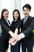stock photo of mating  - Group of business team mate work together - JPG