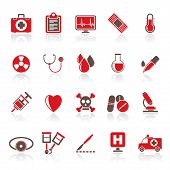 foto of mortuary  - medical tools and health care equipment icons  - JPG