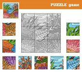 picture of game-fish  - Puzzle Game for children with animals  - JPG