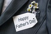stock photo of jacket  - The idea congratulations father on the holiday  - JPG
