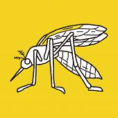 pic of mosquito  - Mosquito Doodle - JPG