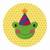 stock photo of cute frog  - Animal Frog Cartoon Theme Elements - JPG