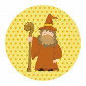 foto of wizard  - Wizard Cartoon Theme Element - JPG