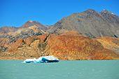foto of iceberg  - Unique lake Viedma in Argentine Patagonia - JPG