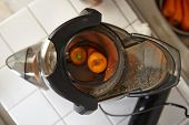 image of juicer  - Juicer for making apple and carrot juice - JPG