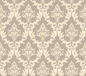 Damask seamless vector background.  For easy making seamless pattern just drag all group into swatch