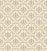 Damask seamless vector pattern.