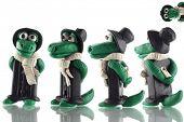 Fun cartoon plasticine crocodile