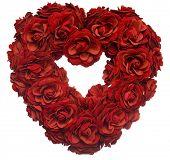 De rosas rojas en forma de corazón San Valentín
