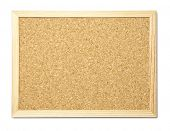 Blank cork message board with wooden frame