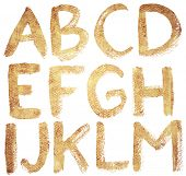 picture of hand drawn  - Textured hand drawn ABC letters set - JPG