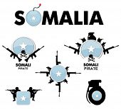 vector design set - somali pirates