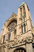 Close Up Of The Architectural Detail Of Truro Cathedral. poster
