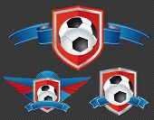 Football Signs - Soccer Balls On The Shields
