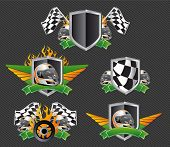 set of racing signs and symbols