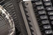 Vintage Typewriter Sideview