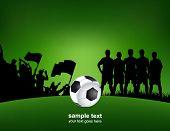 cartel de fútbol verde