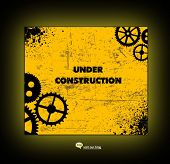 under construction web site template - vector illustration