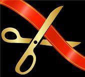 scissors cutting the ribbon