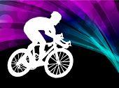 bike rider on the background