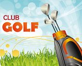 cartaz do clube de golfe