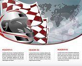 racing web template