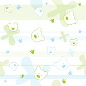Cute seamless baby pattern with little bears